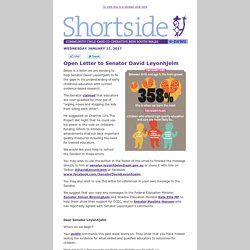 Shortside E-Newsletter