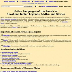 Shoshone Legends (Folklore, Myths, and Traditional Indian Stories)