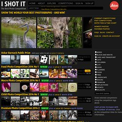 I SHOT IT : The Best Photo Competition