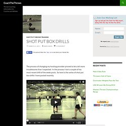 Shot Put Box Drills
