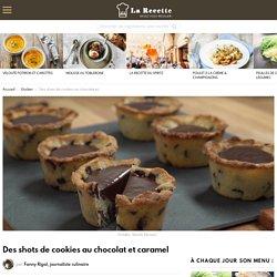 Des shots de cookies au chocolat et caramel