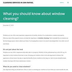 What you should know about window cleaning?