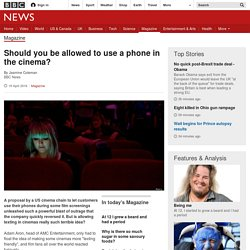 Should you be allowed to use a phone in the cinema?