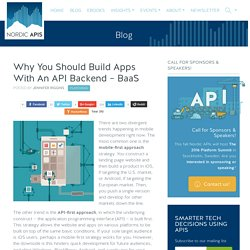 Why You Should Build Apps With An API Backend - BaaS