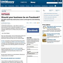Should your business be on Facebook? - Mar. 18, 2008