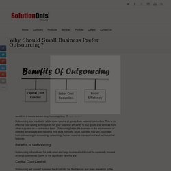 Why Should Small Business Prefer Outsourcing? -