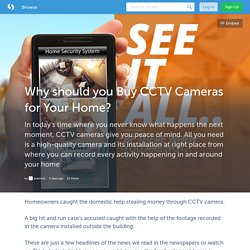 Why should you Buy CCTV Cameras for Your Home?- Avazonic