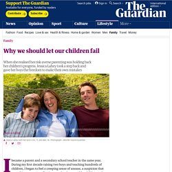 Why we should let our children fail