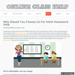 Why Should You Choose Us For Math Homework Help