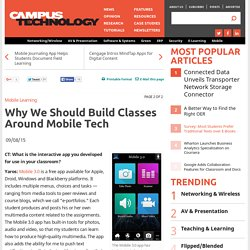 Why We Should Build Classes Around Mobile Tech