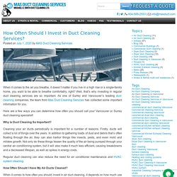 How Often Should I Invest in Duct Cleaning Services?