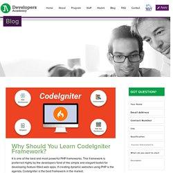 Why Should You Learn CodeIgniter Framework?