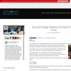 Should College Athletes be Paid: Pros & Cons