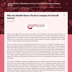Why You Should Choose The Best Company For Payroll Service?