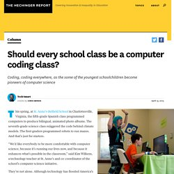 Should every school class be a computer coding class?
