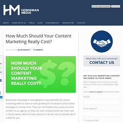 How Much Should Your Content Marketing Really Cost?