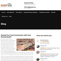 Should You Trust Contractors with Your Period Roofs?