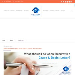 What should I do when faced with a Cease & Desist Letter? - Altacit Global