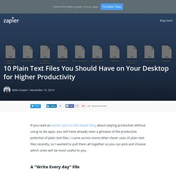 10 Plain Text Files You Should Have on Your Desktop for Higher Productivity