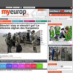 Should I stay or should I go? Le dilemme afghan des Européens