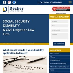 What should you do if your disability application is denied?