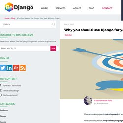 Why you should use Django for your next website project?