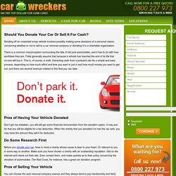 Should You Donate Your Car Or Sell It For Cash? -