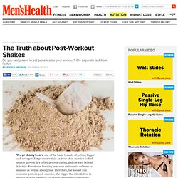 Should I Drink a Shake After a Workout?