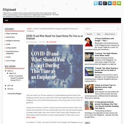 COVID-19 and What Should You Expect During This Time as an Employee ~ Filipinoed