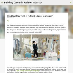 Why Should You Think of Fashion Designing as a Career?