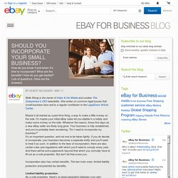 Should You Incorporate Your Small Business?