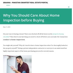 Why You Should Care About Home Inspection before Buying