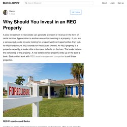 Why Should You Invest in an REO Property