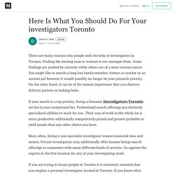 Legal Investigations