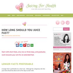 How Long Should You Juice Fast? - Juicing For Health