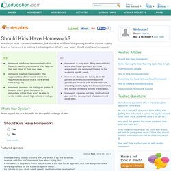 Should Kids Have Homework?