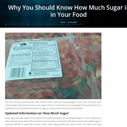 Why You Should Know How Much Sugar is in Your Food - Jet-Label