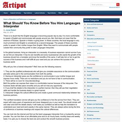 What Should You Know Before You Hire Langauges Interpreter