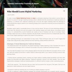 Who Should Learn Digital Marketing