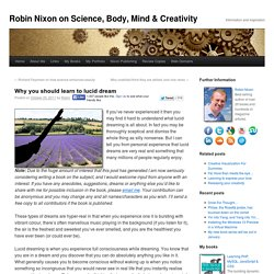 Why you should learn to lucid dream | Yes, I Can! by Robin Nixon