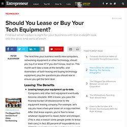 Should You Lease or Buy Your Tech Equipment?