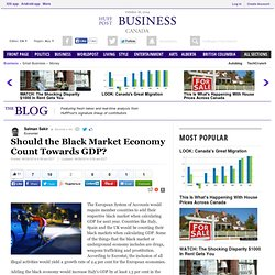 Black Economy VS Shadow Economy. Why counting black market on GDP should lead to legalization