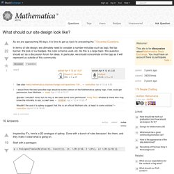 What should our site design look like? - Mathematica Meta Stack Exchange
