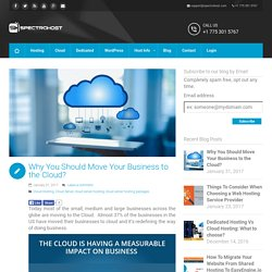 Why You Should Move Your Business To The Cloud?