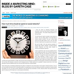 How much time should we spend on social networks? « INSIDE A MARKETING MIND