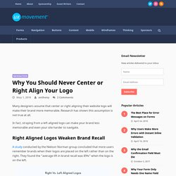 Why You Should Never Center or Right Align Your Logo