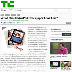 What Should An iPad Newspaper Look Like?