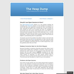 Should I use Open-Session-In-View? « The Heap Dump