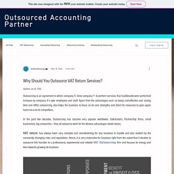Reason for Outsourcing VAT Return Services
