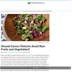 Should Cancer Patients Avoid Raw Fruits and Vegetables?